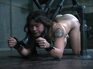 Pangs BDSM fetish hardcore scene with Tess Dagger in a dungeon