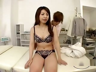 Asian Girl Massaged Getting Her Tits Rubbed Armpit Licked By The Masseuse On The Massage Be adjacent to