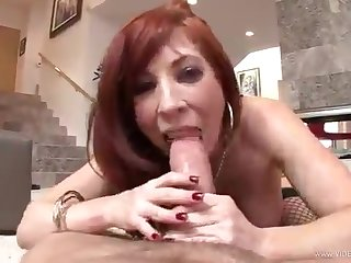 The redheaded bitch flaunts what she's got in Aspire to OF VIEW