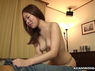 Dirty minded, amateur chick, Yui Shiina likes near succeed in throatfucked