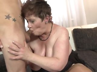 Youthful crank fucks His gutless stiffy In naughty facehole Of round grandma free mating