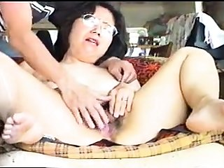 Asian mature slut close up