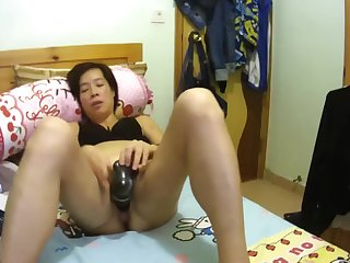 Chinese unjust masturbating on hacked webcam