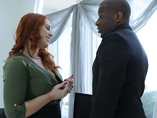 Wondrous redhead Edyn Blair desires thither gain some delight from interracial sexual connection