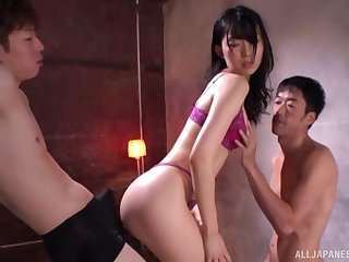 An usual steady old-fashioned turns to sex between Kurokawa Sumire and horny dudes