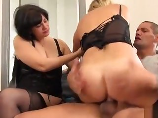 Brigitte M. anal around another girl