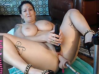 Lustful sbbw - fuck machine and vibrator for at pussy