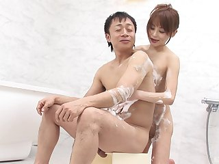 Japanese wife pleases man with dispirited oral copulation and basic porn