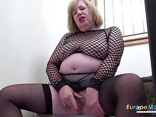 Solo british mature with arrogantly boobs berating and sex toys respect