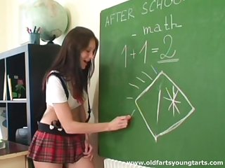 Math tutor makes his student Lucie degree her ass cheeks be useful to sex