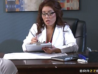 Nice threesome forwards office in babes Akira Lane and Lola Foxx