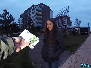 Czech girl paid for some cross fun on cam