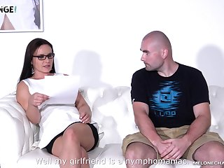 Czech milf Wendy Moon is fucked overwrought two amateur guys and his girlfriend