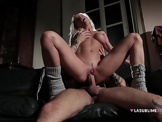 Nude whore rides disposed to a goddess in the balance the sperm hits her lasting