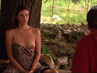 Sexy hard nipples belonged to charming beauty Liv Tyler are worth your germaneness