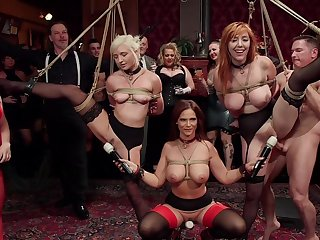 BDSM party with rich people and sub sluts Lauren Phillips and Eliza Jane