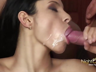 Hotwife takes 2 cocks added to 2 cumshots