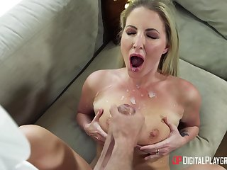 Mommy gets fucked and jizzed on tits by the show foetus