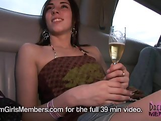 Hot Party Girls Ride Around Town Naked In Our Limo - DreamGirlsMembers