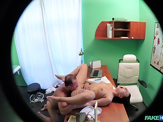 Amazing voyeur scenes when the doc fucks the hot patient