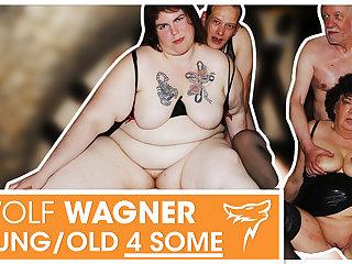 Swinger orgy! MILFs get boned & acquisition bargain cum! WolfWagner.com