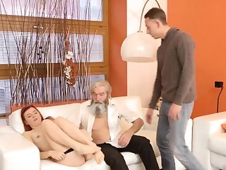 Daddy pain his father came chat up advances to her and embarked to