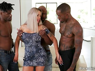 First time gender in the ass with three black hunks