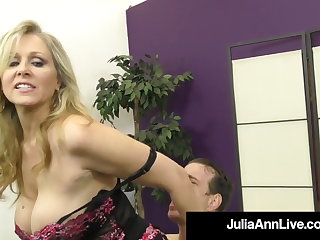 Calumnious Talking Controlling Cougar Julia Ann Orders The brush BoyToy!