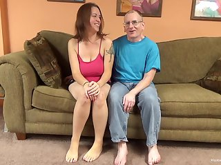 Sexy brunette amateur all over significant natural tits is ready to let this old man have some fun!