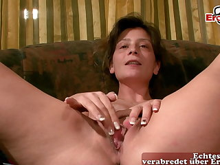 German hairy housewife masturbates at send