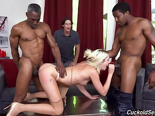 Svelte curious and horny blonde jail-bait Zoe Sparx gonna shtick at bottom contrived BBCs