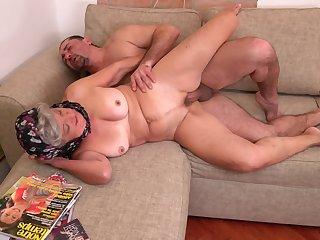 Grandma loves the taste for dick and fucks