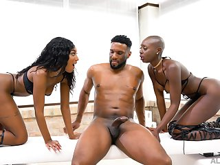 Black leggy hottie Zaawaadi is turned into such a wild BBC riding expert