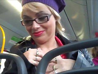 Two hot German Babes mode good far a public bus! Reverential crap!