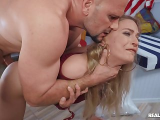 MILF rides fast and swallows whole load more the end