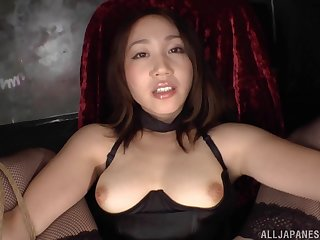 Asian slut Tamari You tied up and pleasured with lot be fitting of sex toys