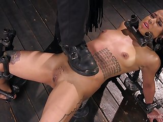 Deep BDSM leads young ebony babe to extreme moments