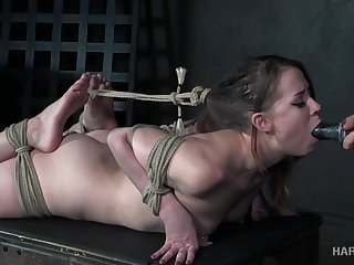 Quite bootyful gal Zoey Laine is ready for some hogtying lark