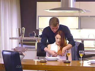 Dane Jones, Sexy Czech redhead Charlie Red, intimate oral