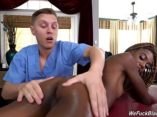 In the buff ebony suits her libido porn with a big white
