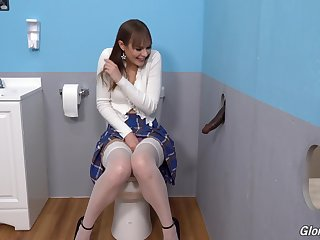 Gloryhole perfection shows the young amateur whore going wild on the BBC