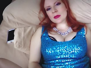 Redhead cougar lady is being creampied by her stepson
