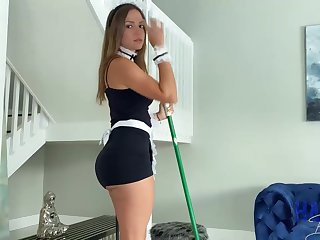 Mexican maid, Havana Bleu is regularly having fuck-a-thon with her employer, because he always makes her jizz