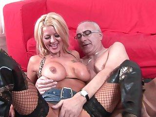 Old man fucks a busty mature slut take the craziest cam scenes